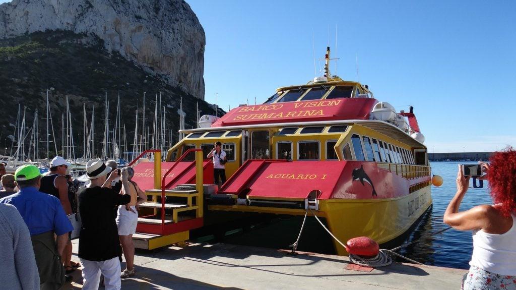 Paseo en barco Calpe
