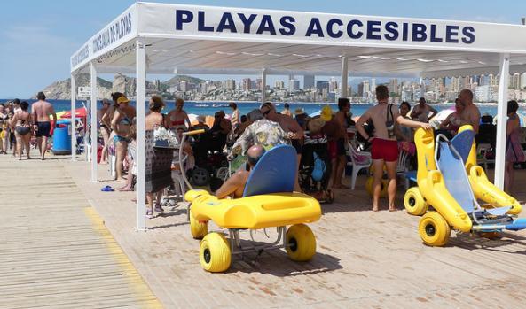 Playas accesibles Benidorm